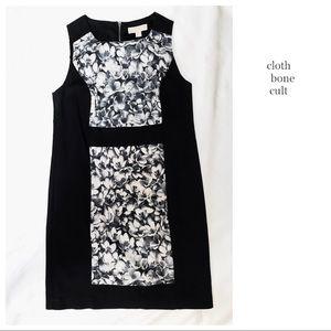 MICHAEL KORS Floral Block Pattern Sleeveless DRESS